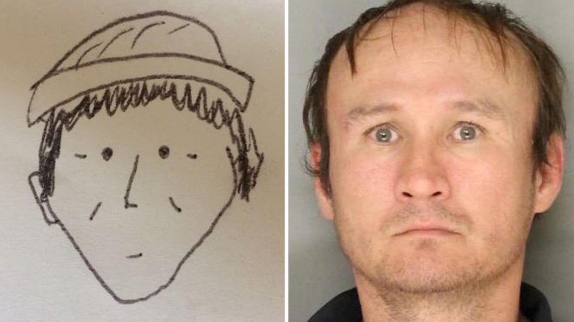 A simple sketch led police to identify theft suspect as Hung Phuoc Nguyen.