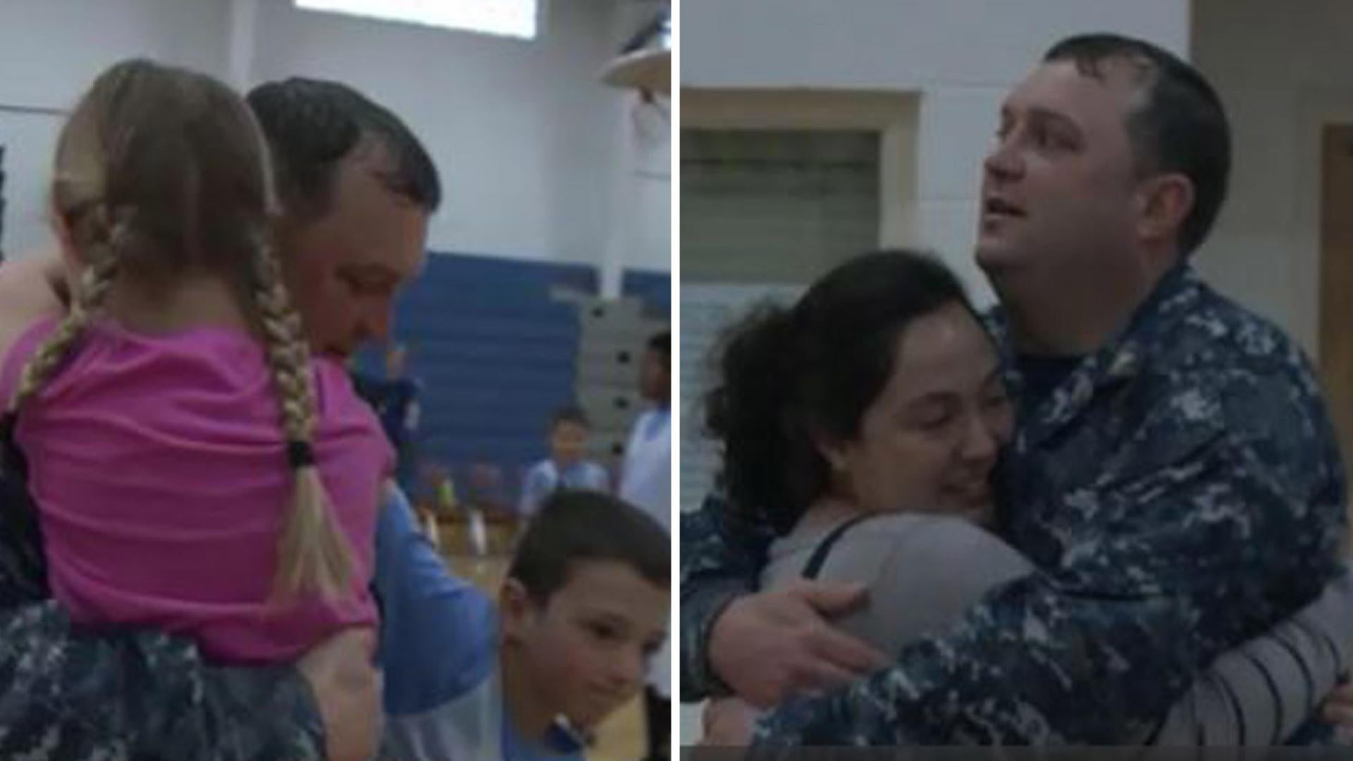 Nicholas Kane spent six months overseas with the Navy, so when the Virginia Beach dad was slated to come home, his sister, Krystina Landrey, decided to help him make it a moment to remember.