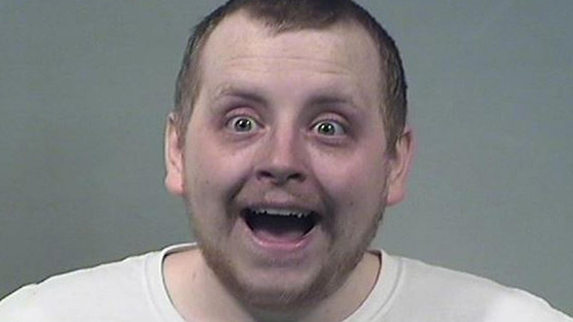 """Kenneth Evans, 24, was """"obviously intoxicated"""" when police responded to his home on Tuesday."""