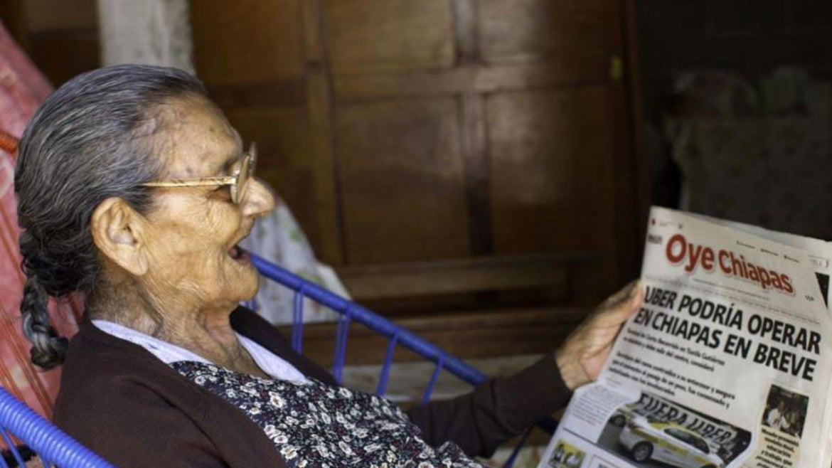 Guadalupe Palacios is attending high school at age 96.