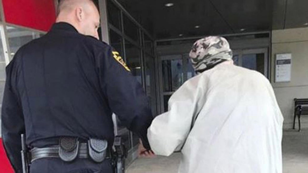 Deputy chief Jason Bentley escorted an 84-year-old man to the hospital.