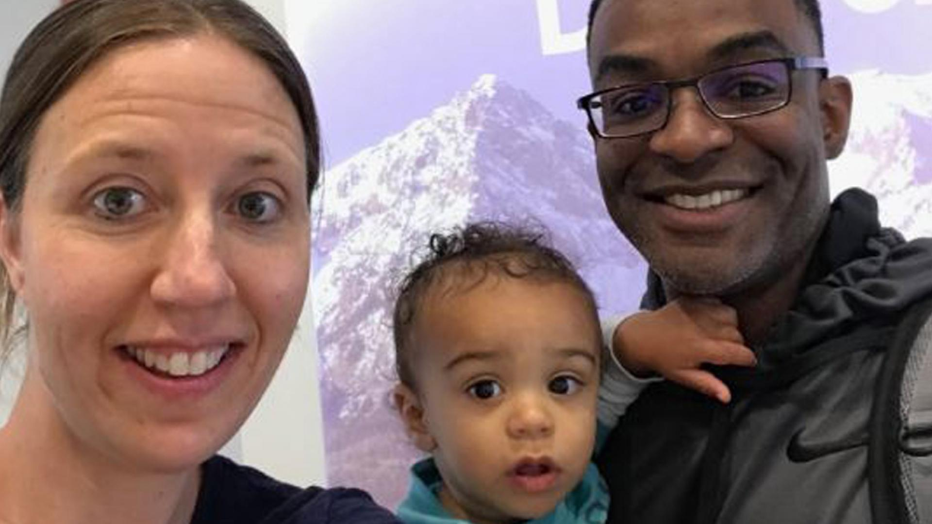 Lindsay Gottlieb, her baby and her husband.