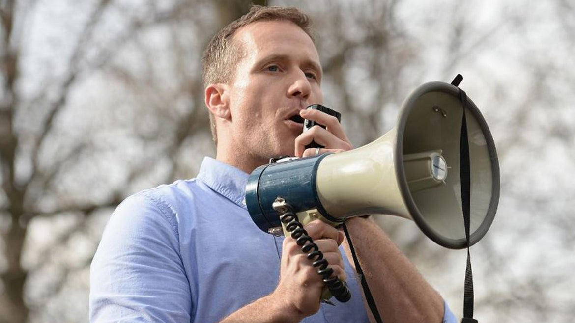 Eric Greitens is leaving office.