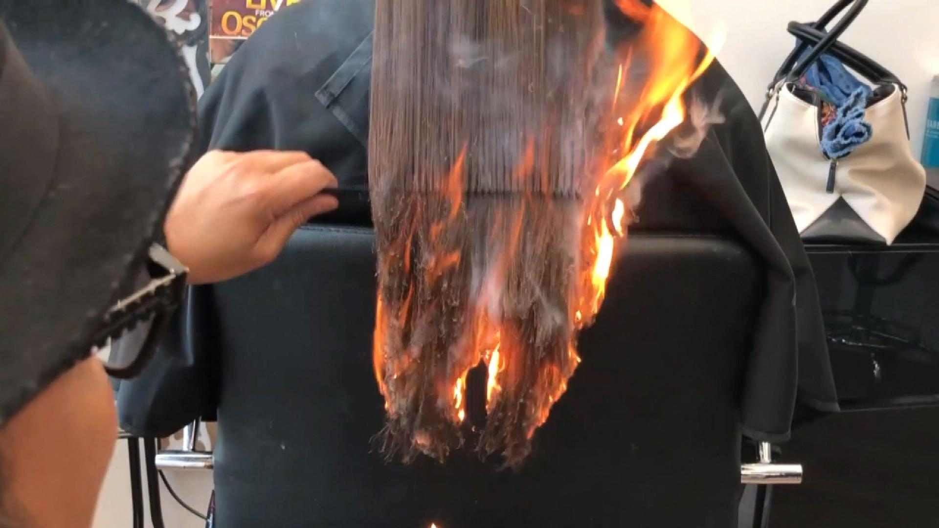 Barber Who Uses Fire To Style Hair Calls It A Dangerous Art Form Inside Edition
