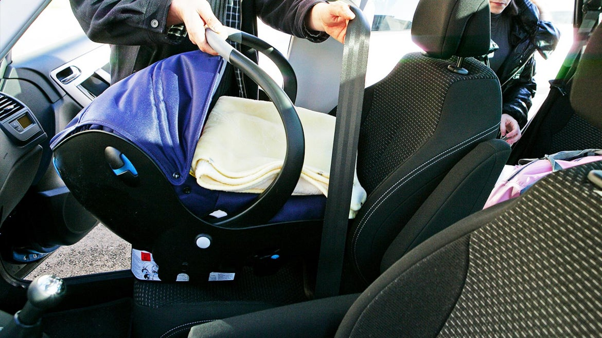 A concerned mom credits a car seat for saving her baby's life.