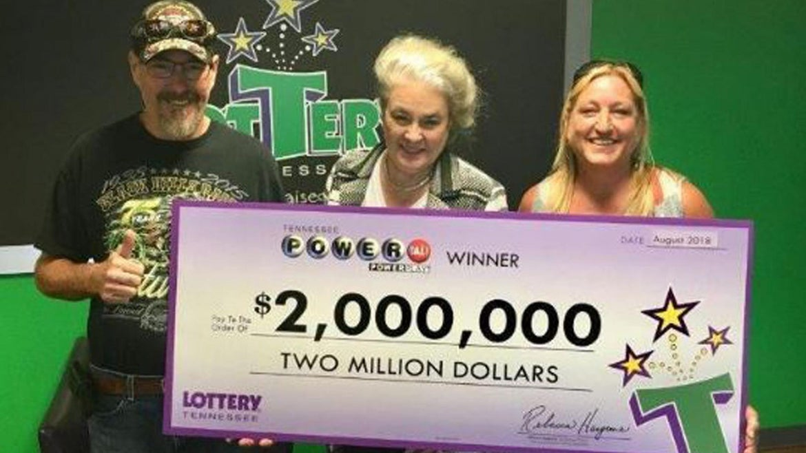 Donald Coffman won the lottery, thanks to his dad.