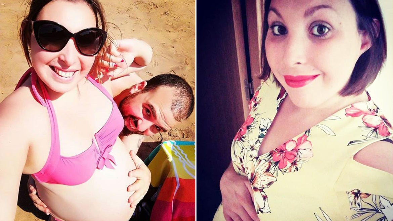 Vanessa Fernandez Arango poses with her baby bump during her pregnancy.