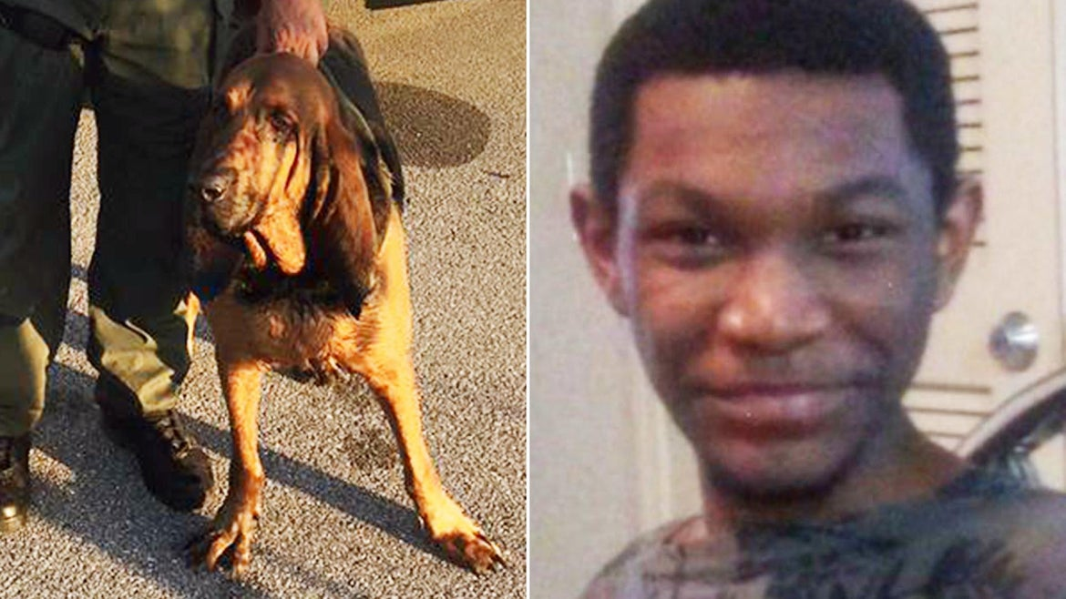 K9 Putnam discovered 17-year-old Ricky Wheeler in a wooded area.