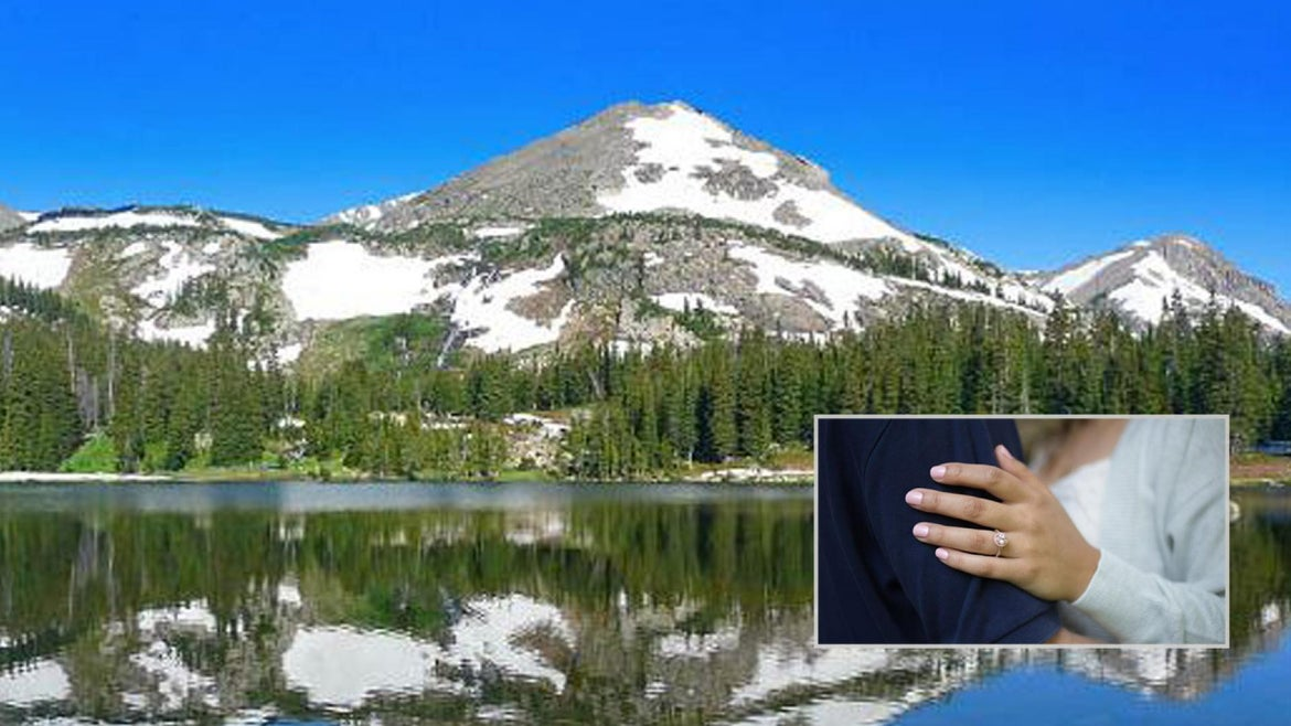 A newly engaged couple got stranded on a Colorado mountain.