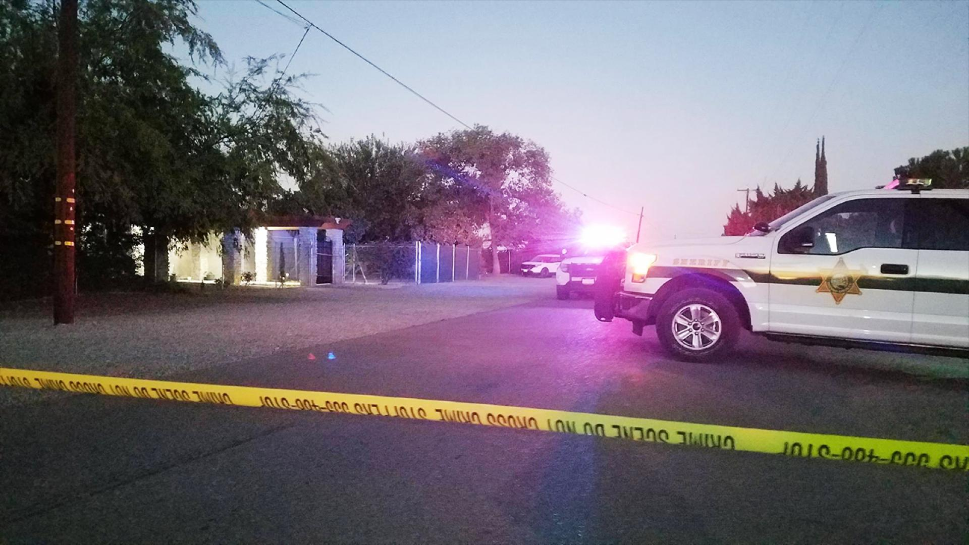 Authorities found a 54-year-old dad shot dead by his teenage son.