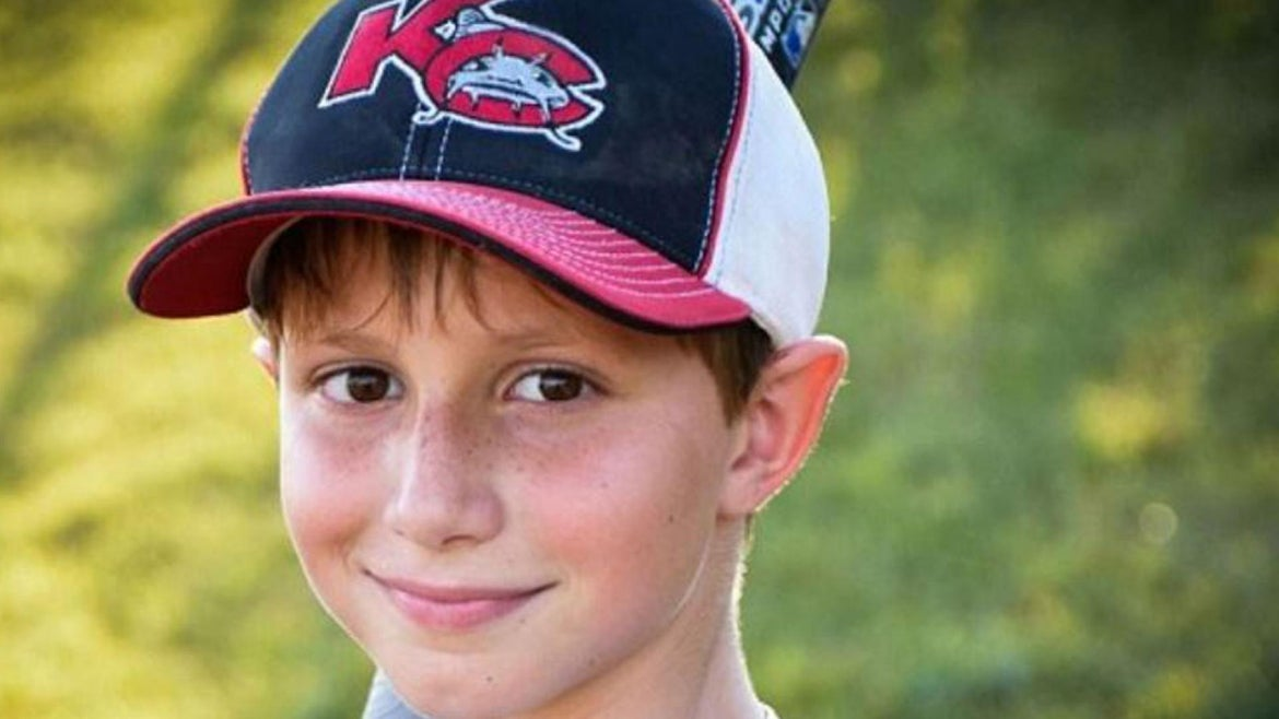 Caleb Schwab, 10, was decapitated while riding the water slide.