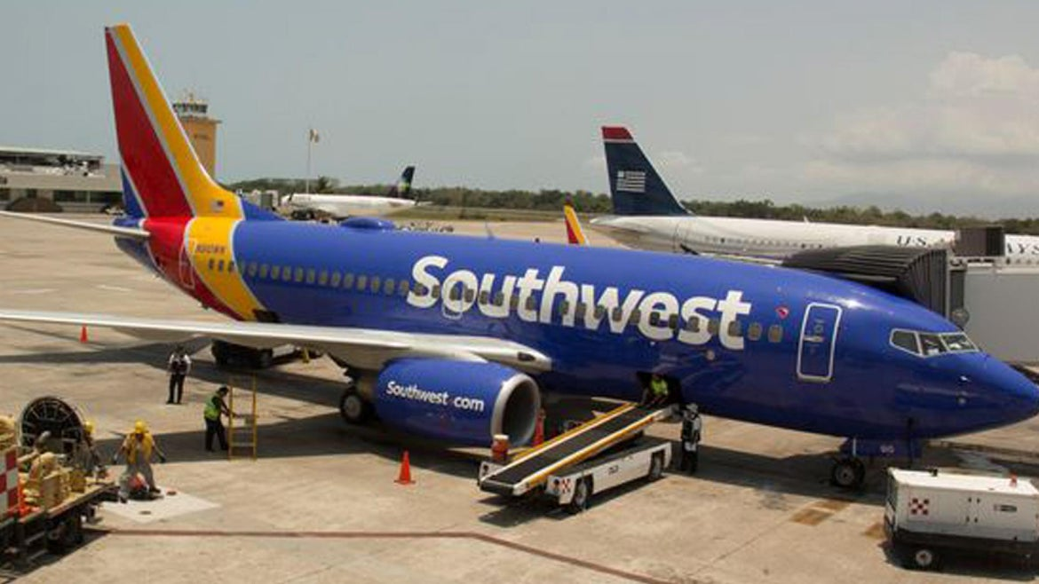 The Southwest flight was bound for Albuquerque after taking off from Houston.