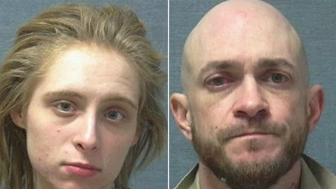 The couple allegedly showered and washed clothes before burglarizing the home.