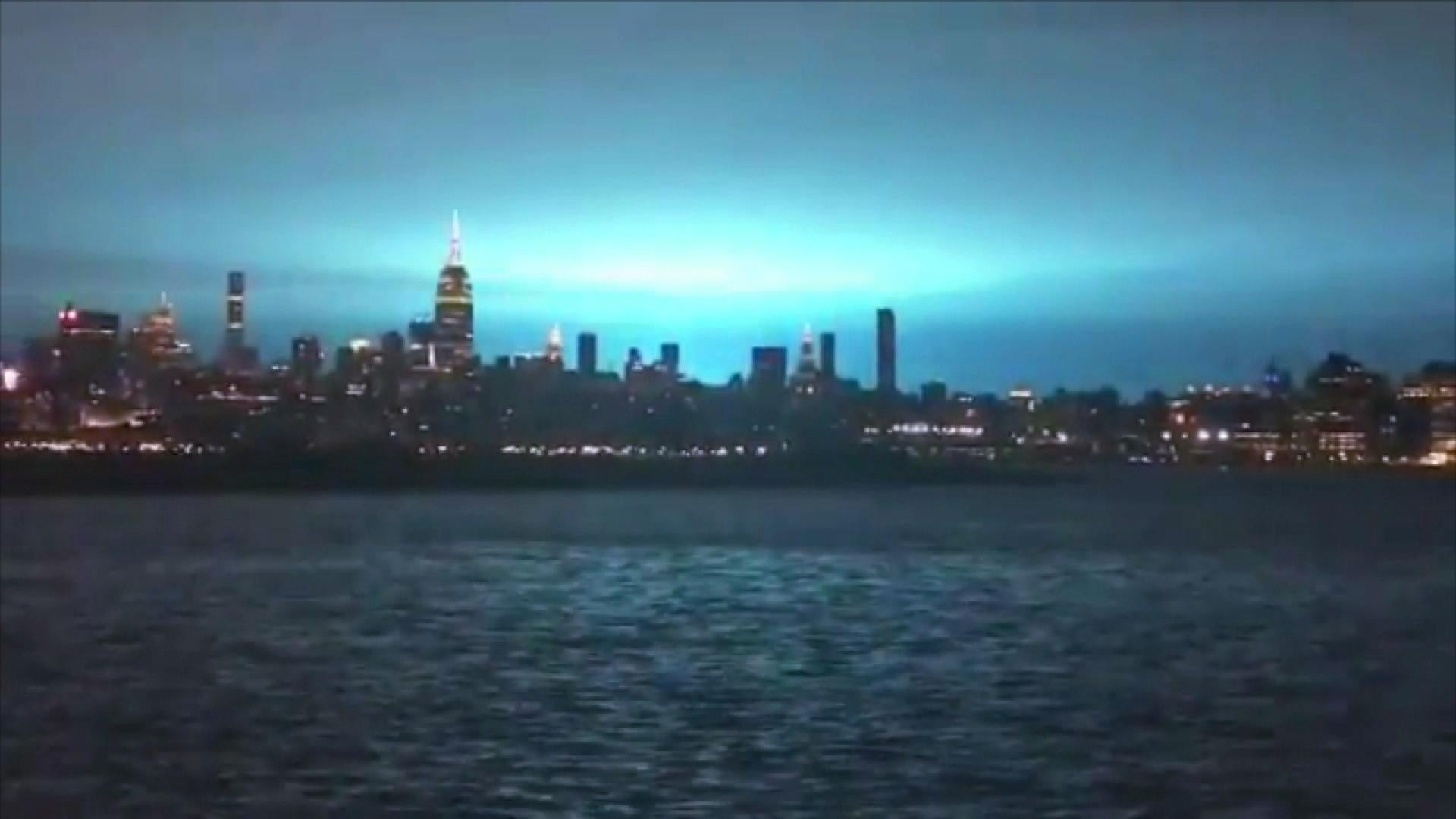Blue Light Flashes Across New York City Skies But Aliens Are Not