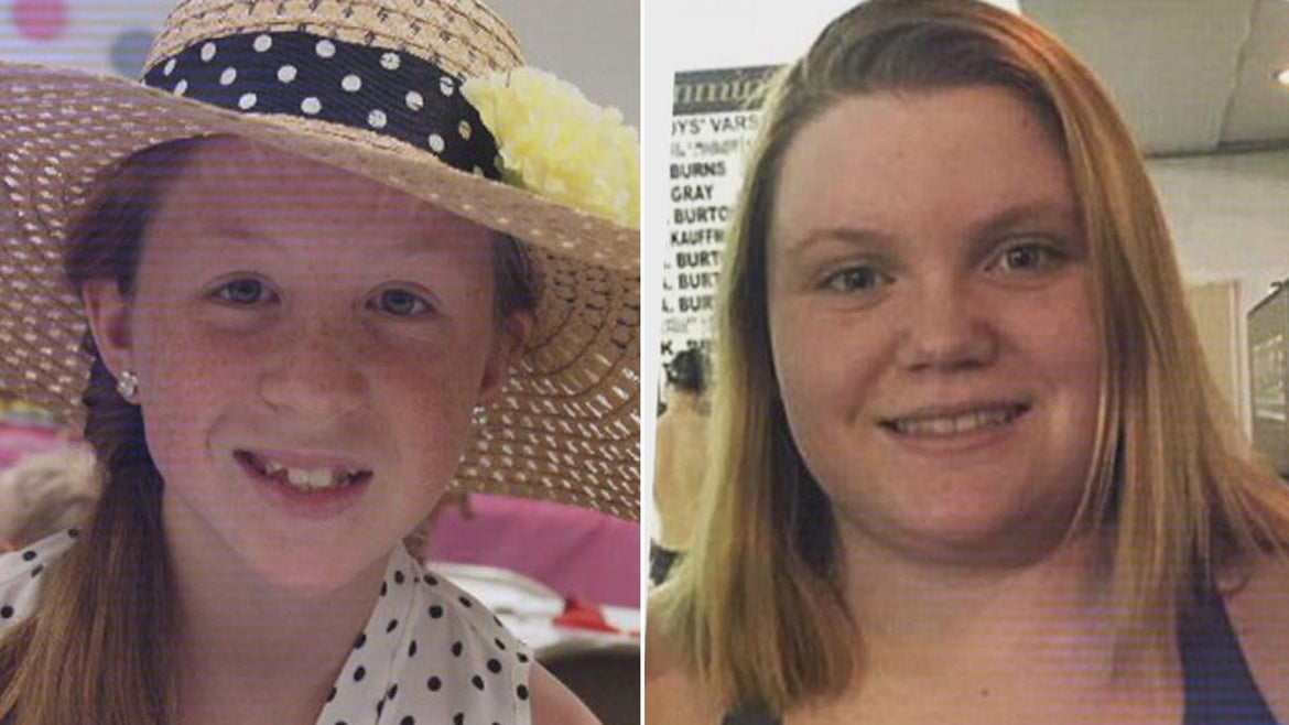 Abby Williams (left) and Libby German (right) are pictured here.