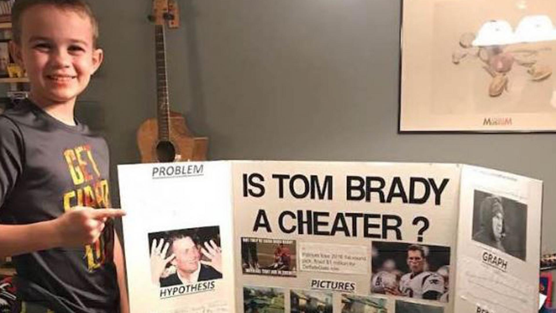 Ten-year-old wins science fair with project declaring Tom Brady is a cheater.
