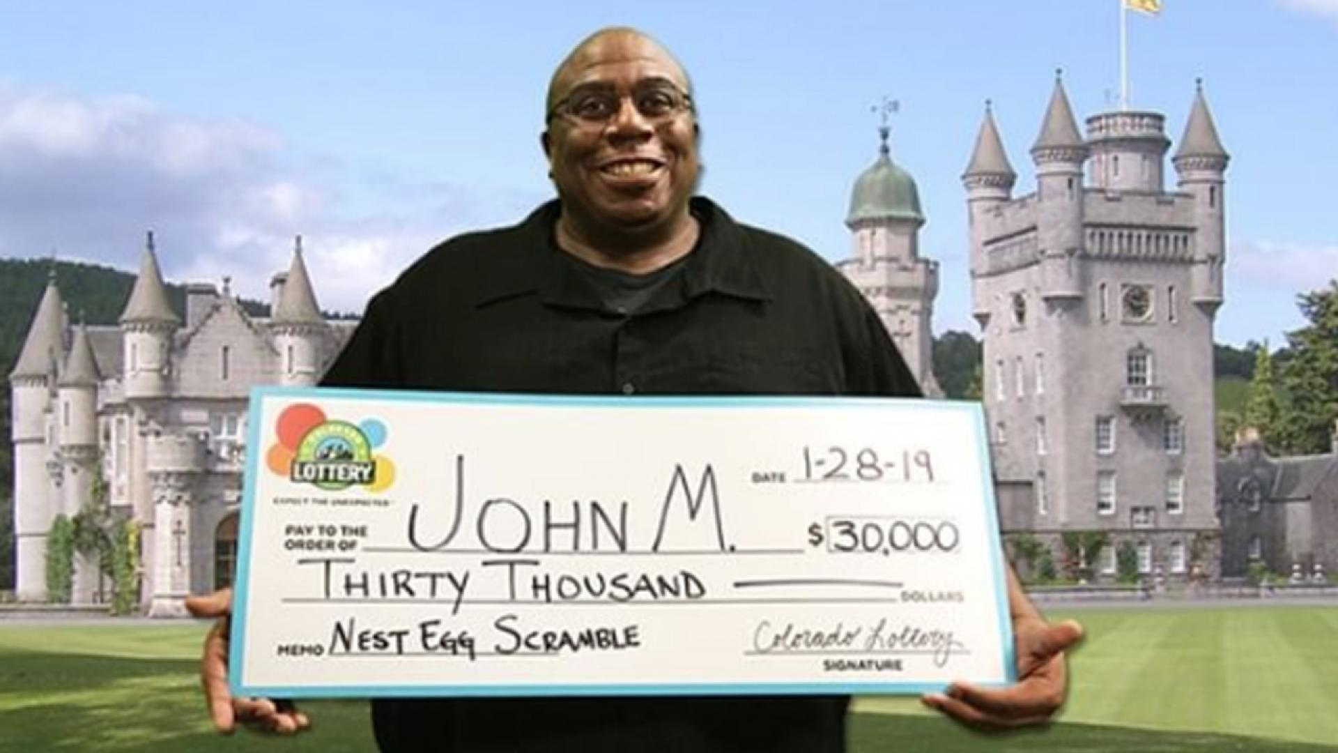 He won $30,000 by mistake.