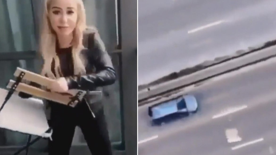 Marcella Zoia faces criminal charges for throwing a chair off a high-rise building.