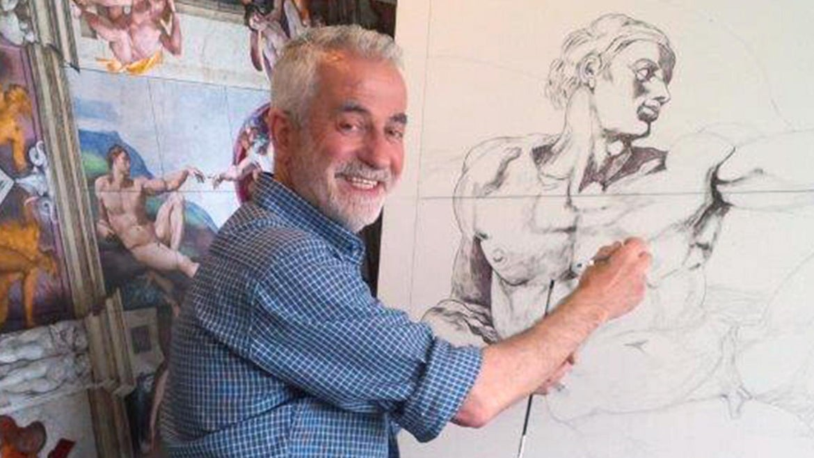 Cosimo Geracitano said he began painting as a boy but dedicated himself to his craft after retirement.
