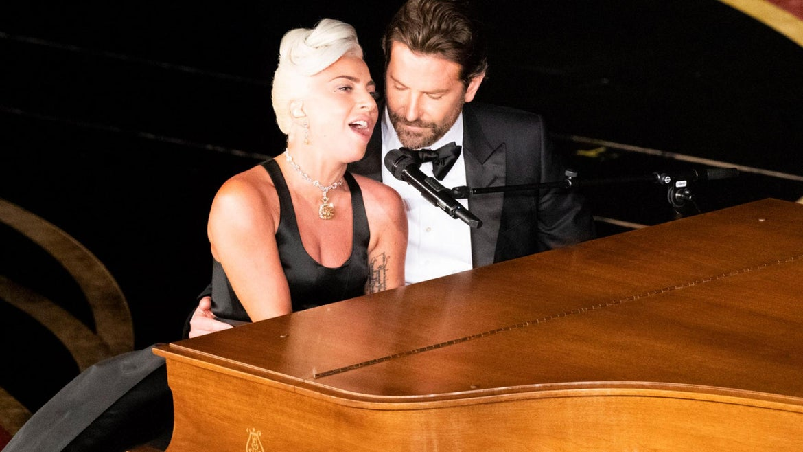 Lady Gaga said Bradley Cooper choreographed their intimate performance, which began with the stars walking on stage without any introduction.