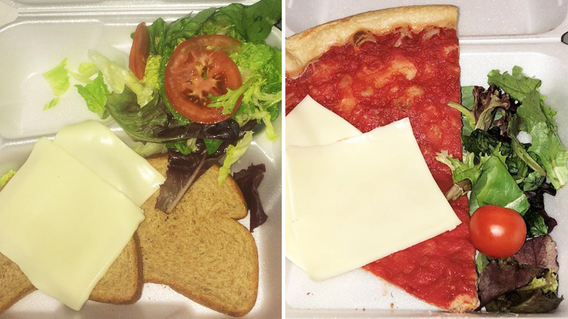 A pizzeria offers a gag menu item inspired by the Fyre Festival.