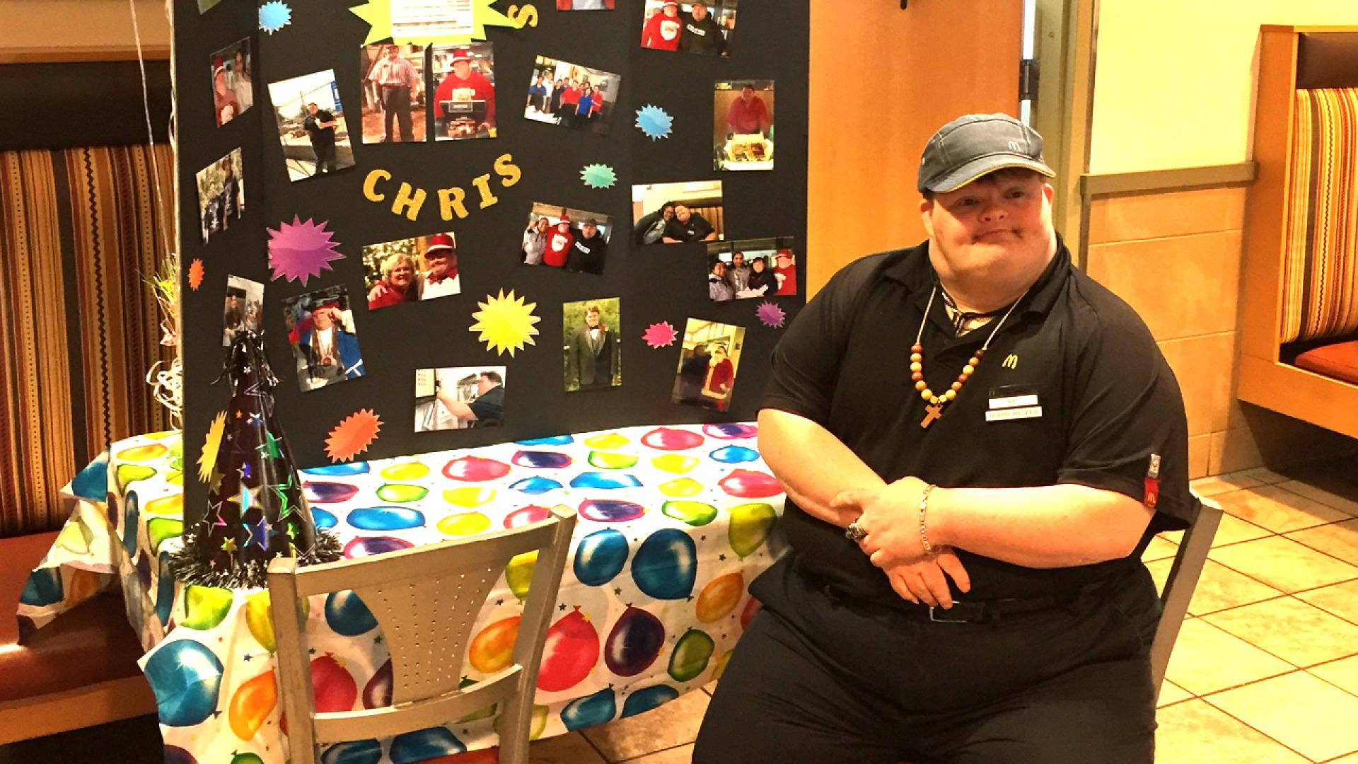 Chris Campbell has worked at McDonald's for 27 years.