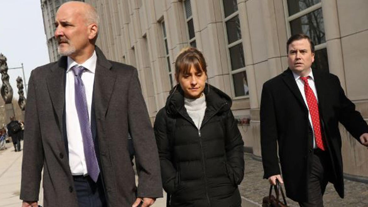 Allison Mack seen leaving a Brooklyn court in February.