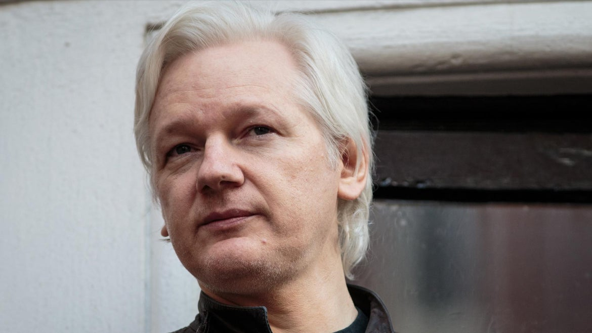 Julian Assange was arrested in the London on Thursday.