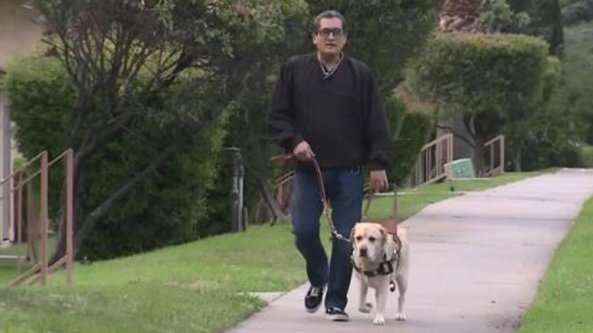 Charles Massey said he and his guide dog, an 8-year-old yellow lab named Jedi, were in a Lyft he ordered April 6 only seconds before the driver said he couldn't take them where they needed to go.