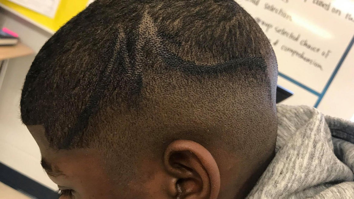 Juelz Trice was given two options and he chose to have his hair colored in.