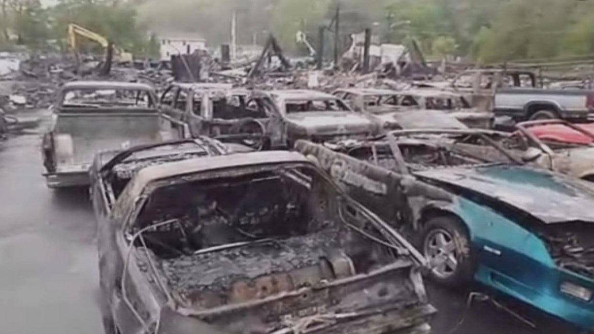 The 613 Automotive Group dealership manager, Chris Busby, gave Inside Edition a look at the grim aftermath.