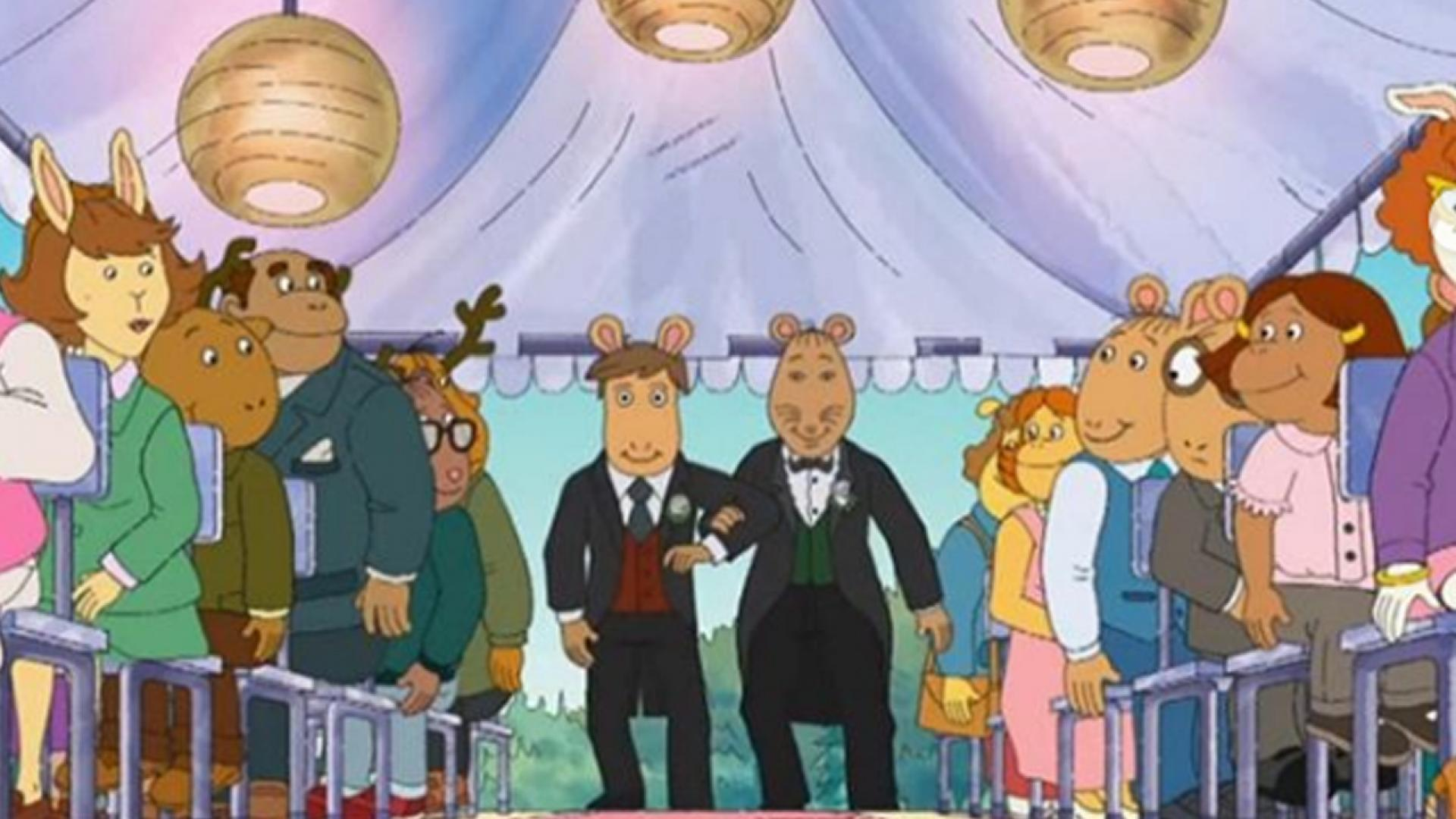 "The beloved ""Arthur"" character Mr. Ratburn came out as gay and tied the knot in Monday's episode of the series."