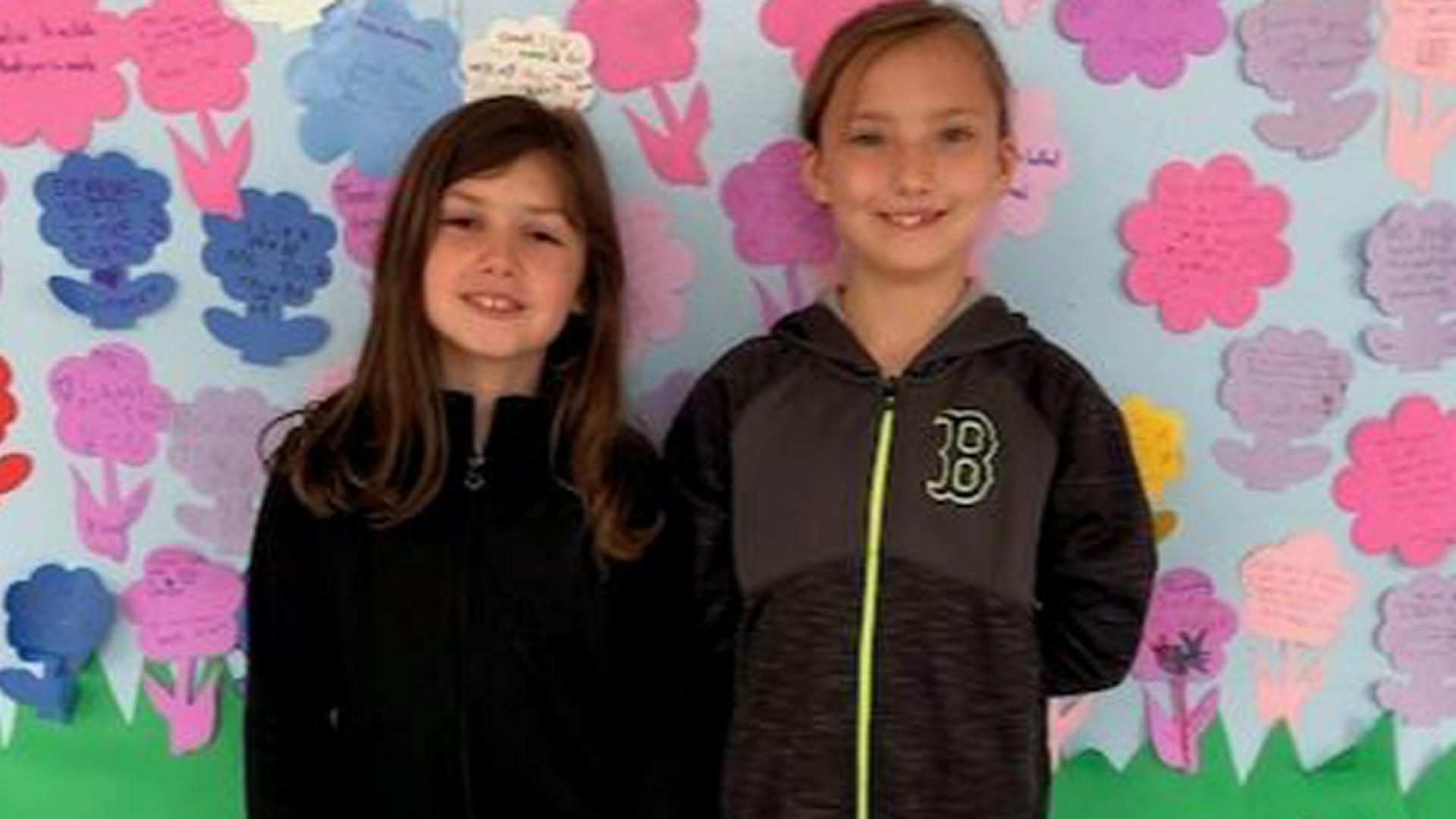 Keira Silvia, left, was choking an a hot dog when Shailyn Ryan, right, performed the Heimlich maneuver.