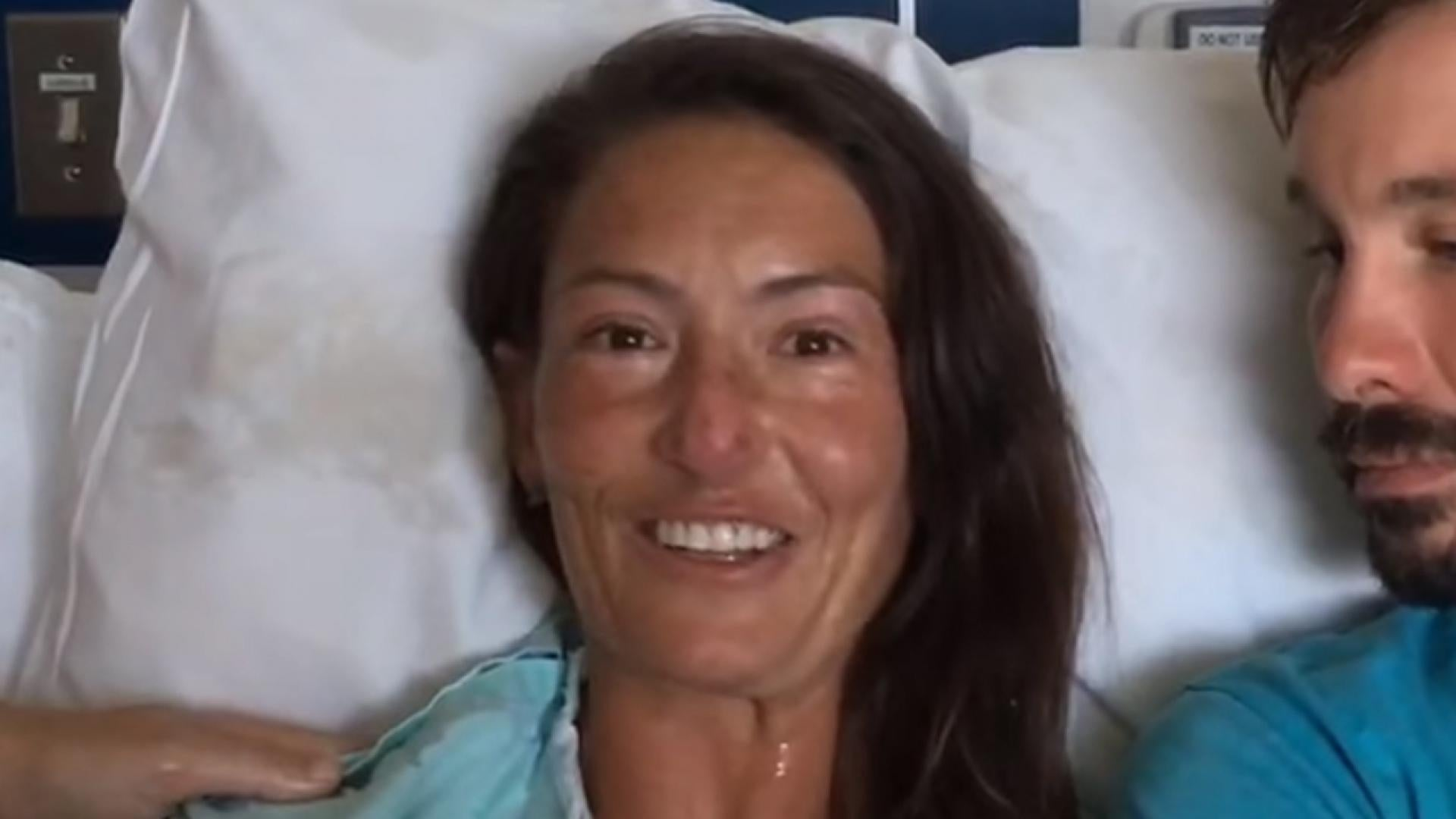 Amanda Eller spoke from her hospital bed about being rescued after two weeks lost in the Hawaiian wilderness.