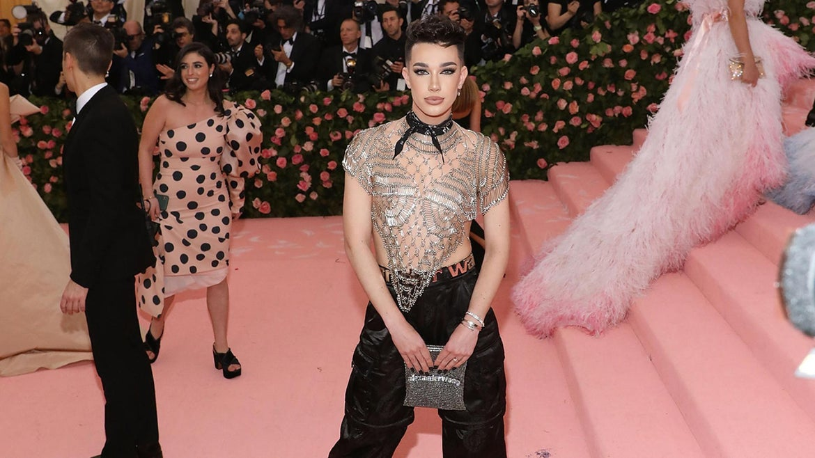 James Charles is pictured at the 2019 Met Gala.
