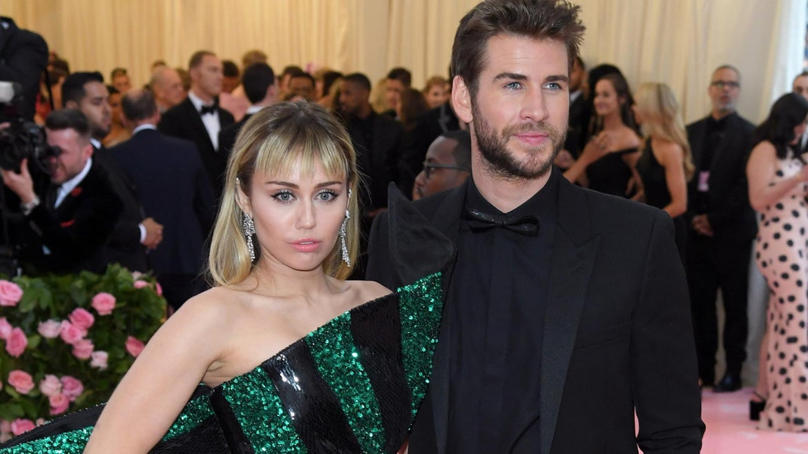 Miley Cyrus and Liam Hemsworth at the 2019 Met Fashion Gala.