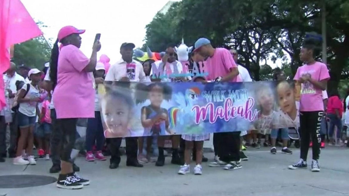 Hundreds turned out for a memorial march to honor Maleah Davis.