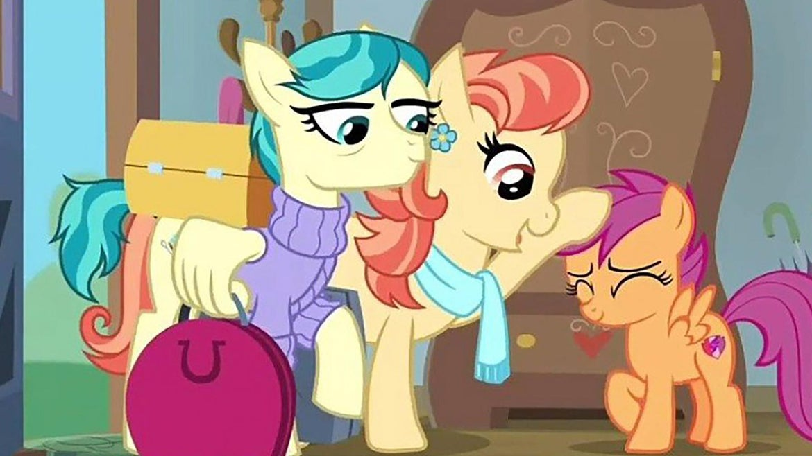 """""""My Little Pony"""" debuted a lesbian couple on Saturday."""