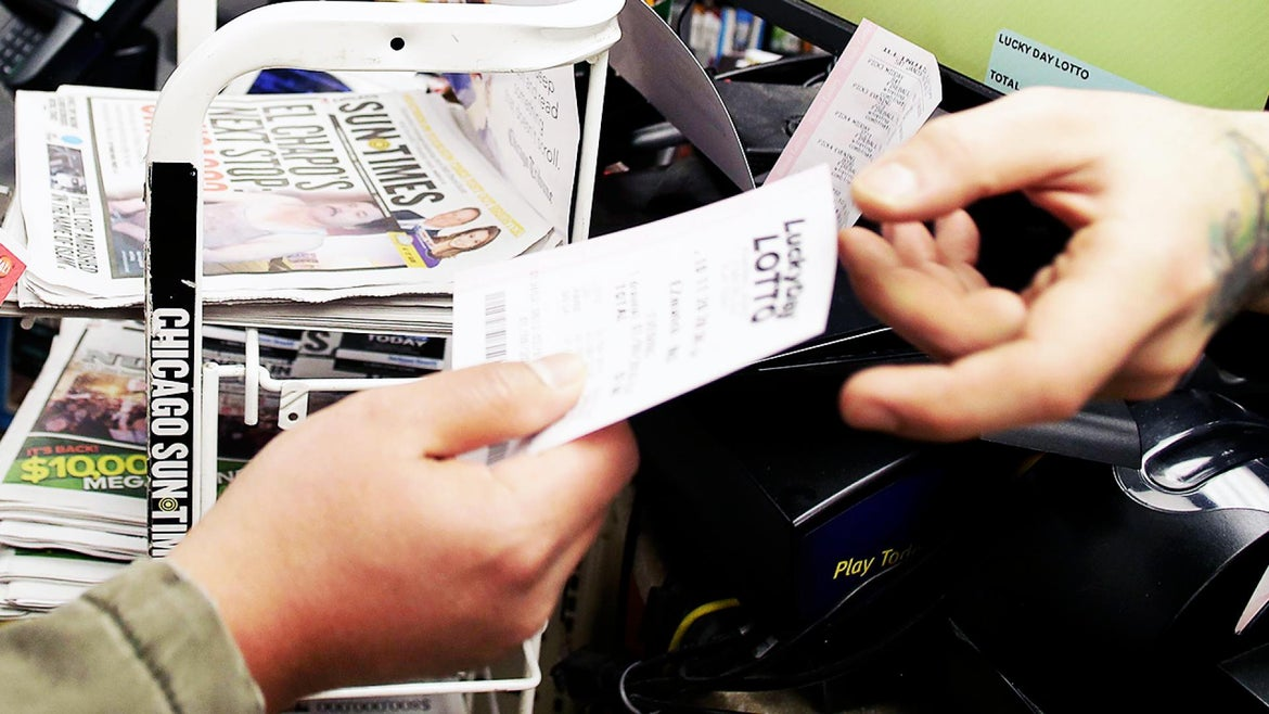 A woman says her ex ran away with her winning lottery ticket.