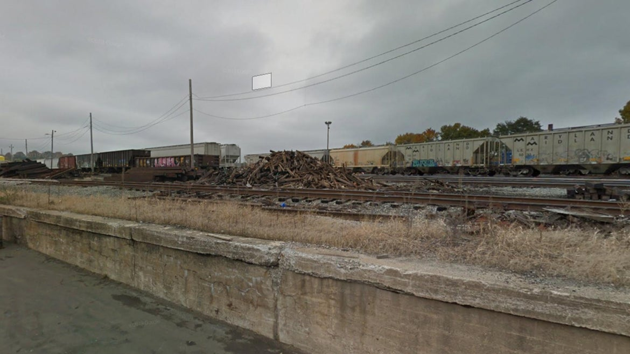 Train tracks in Worcester, Massachusetts
