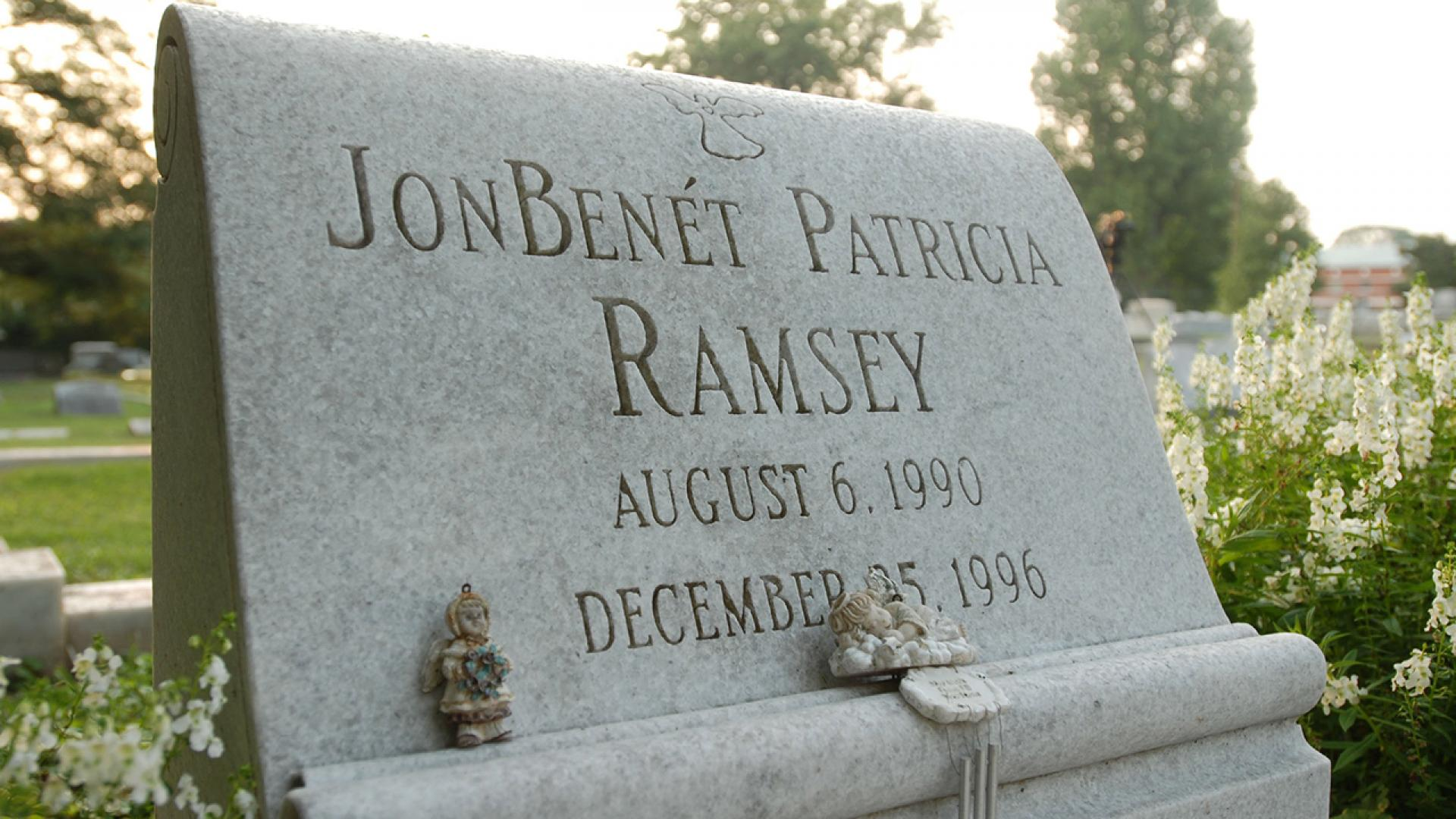 JonBenet Ramsey's grave is pictured here.
