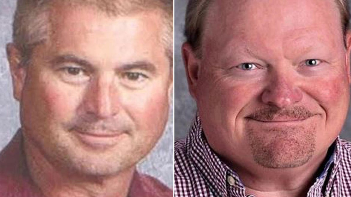 The bodies of Kenneth Anderson, 57, and Mark Anderson, 60, were found in a pool in the backyard of a Davenport home at 8:53 p.m. Monday, police said. The men were not related, cops said.