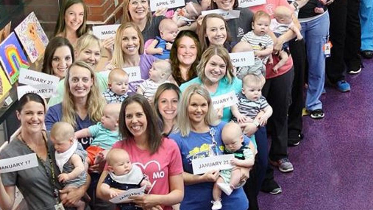 A Missouri hospital is experiencing a baby boom among its NICU nurses.