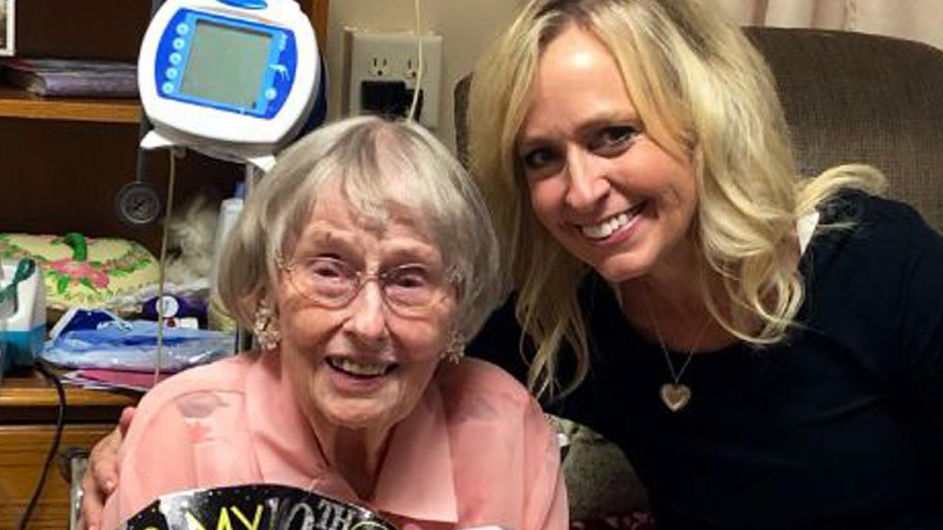 Kerry Maggard with her centenarian aunt.