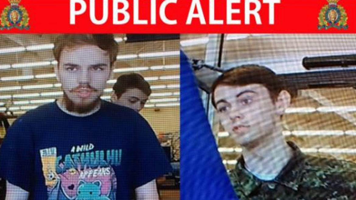 Canadian police are searching for these two teenage murder suspects.