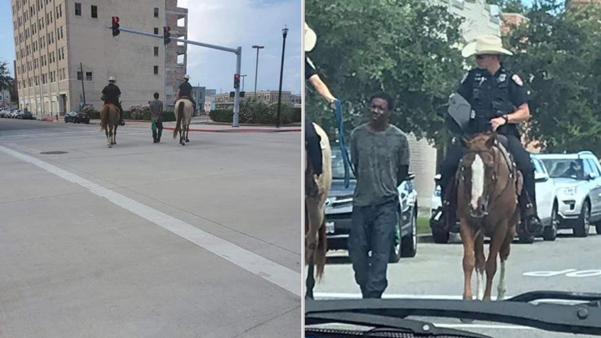 The controversial photo prompted an apology from the Galveston Police Department.
