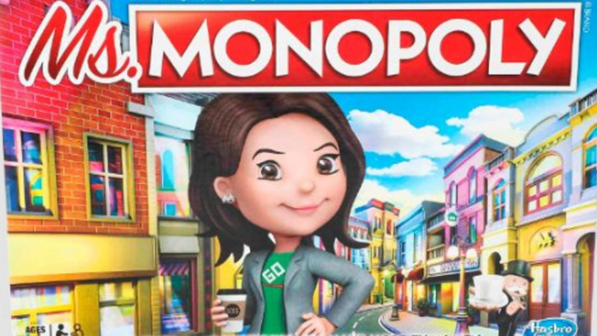 A new version of Monopoly will see women earn more money than men.