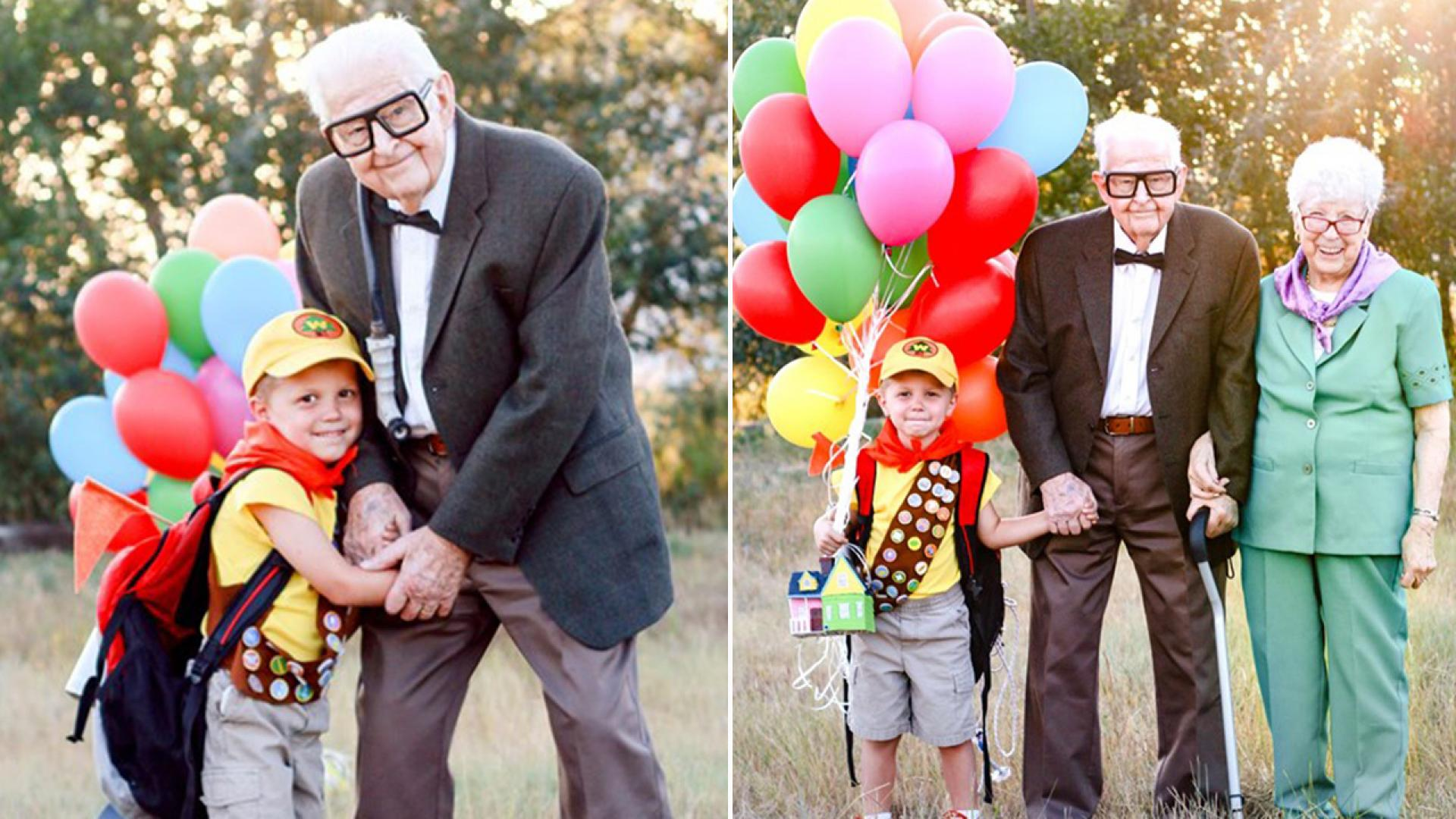 Elijah Perman, 5, celebrates his birthday with a sweet photo shoot, featuring his great-grandparents.