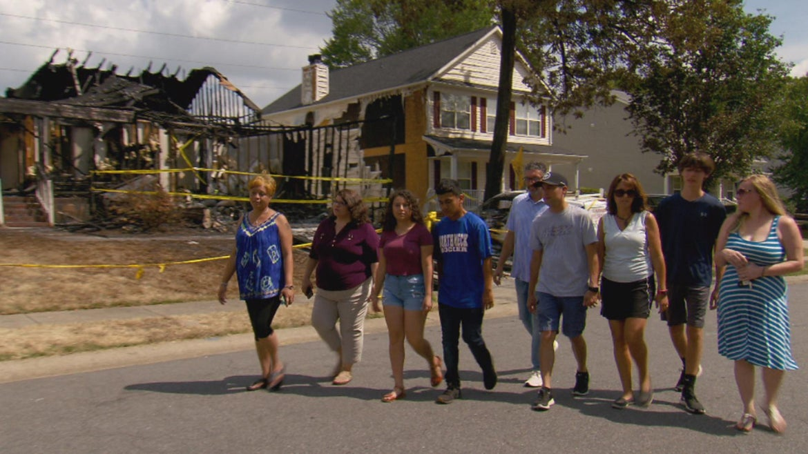 These hero neighbors helped pull a 97-year-old woman from a burning home in North Carolina.