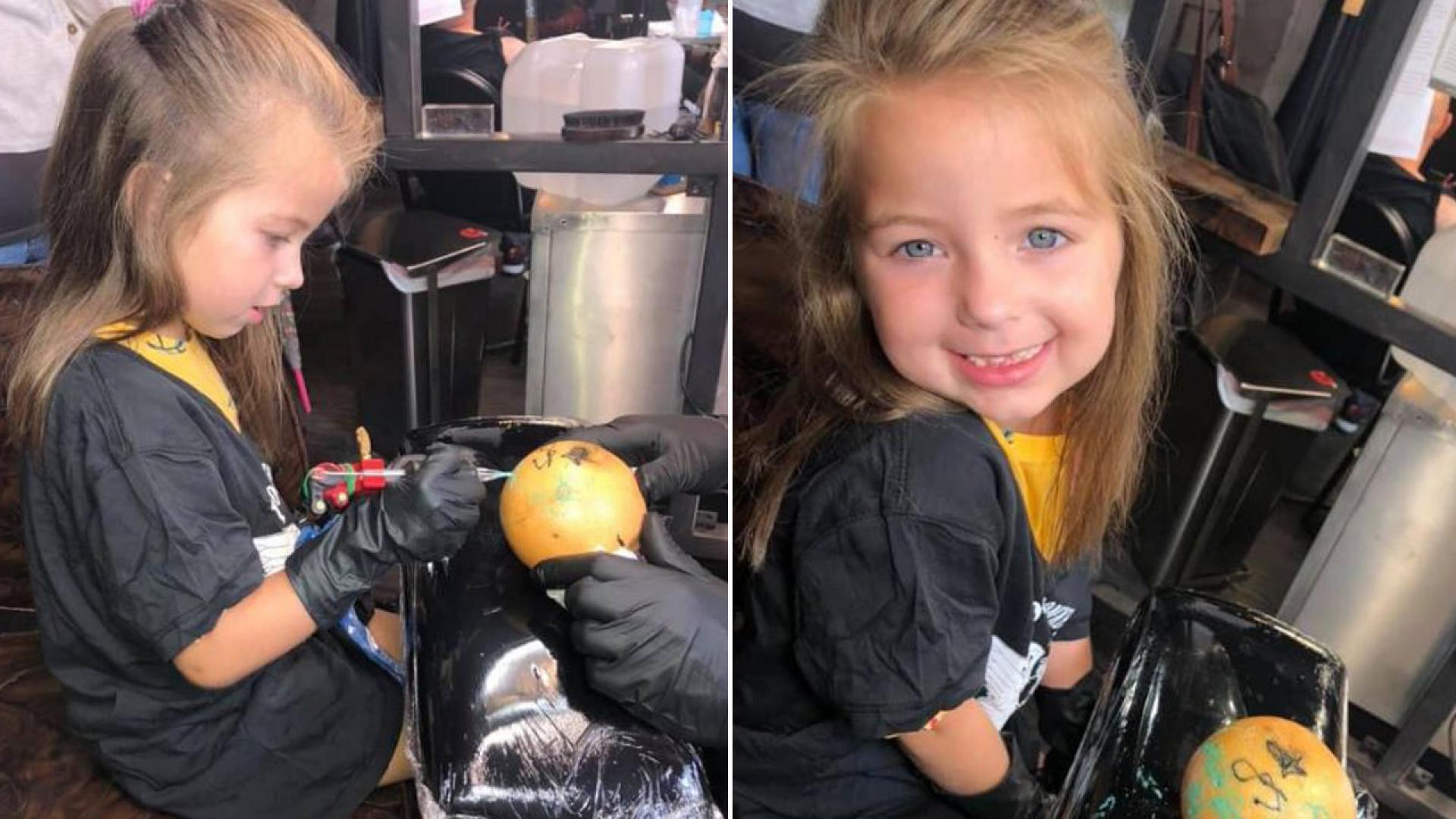 Maja, who has leukemia, got to be a tattoo artist for a day.